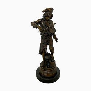 French Lulli Enfant Violin Player Sculpture, 20th-Century