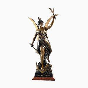Statue de Victoire en Régule du 19ème Siècle, France, 1900s