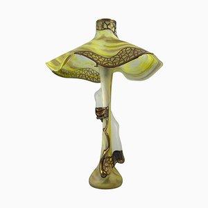 20th-Century Art Nouveau Style Art Glass Table Lamp