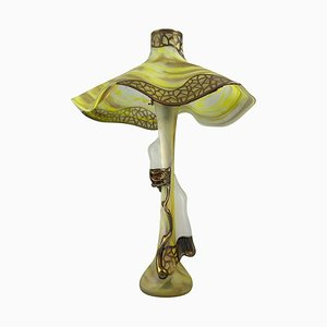 Lampe de Bureau Style Art Nouveau en Verre, 20ème Siècle