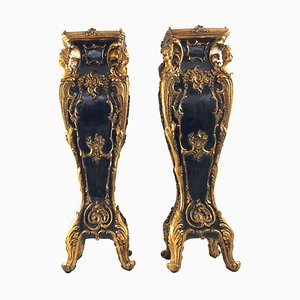 20th Century Louis XV Style French Jardiniere Stands or Plinths, Set of 2
