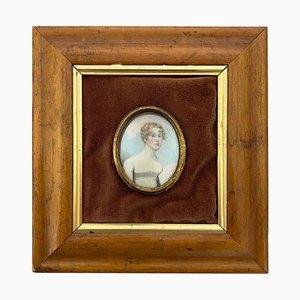 Holzrahmen Bild der Englischen Dame in Weiß, 19. Jh