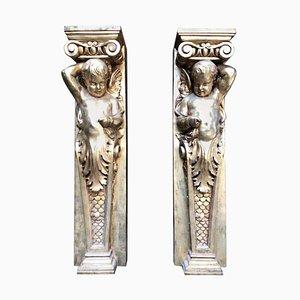 Colonne ioniche, XX secolo, set di 2