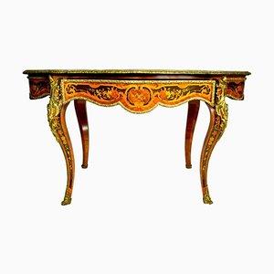 Table d'Appoint Style Louis XV en Marqueterie, 19ème Siècle