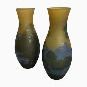Vases en Verre Taillé, 20ème Siècle, Set de 2