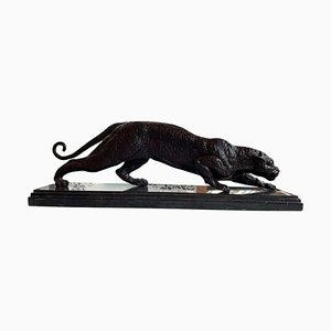 French Art Deco Bronze Panther
