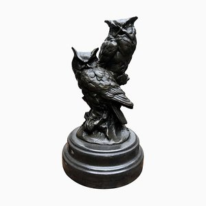 Bronze Schleiereulen-Statuen, 20. Jh