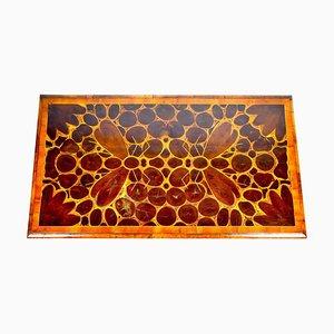 Tisch aus Austernholz mit Intarsien, 18. Jh