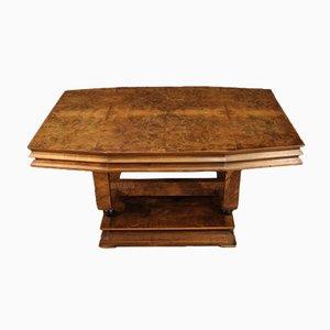 Italian Art Deco Style Wooden Table, 20th Century