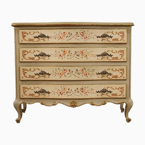 Venetian Lacquered, Gilded and Painted Dresser, 20th Century