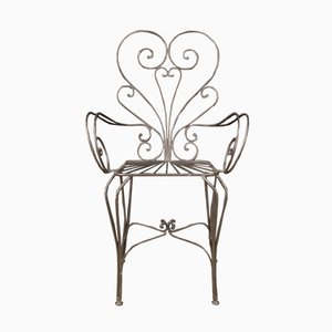 French Iron Armchairs, 20th Century, Set of 2