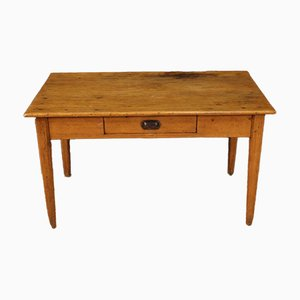 Rustic French Writing Desk in Chestnut, Pine & Fruitwood, 20th-Century