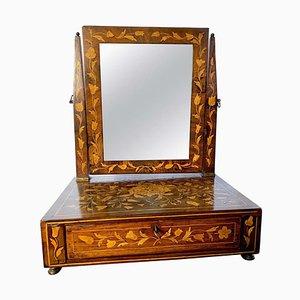 18th Century Dutch Inlaid Walnut Dressing Table Mirror