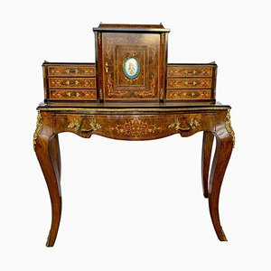 19th Century French Walnut Bonheur du Jour Desk