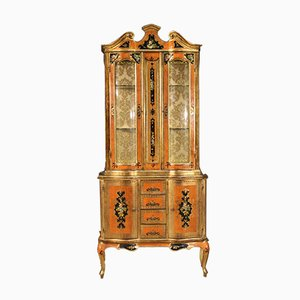 Florentine Style Showcase Cabinet, 20th Century
