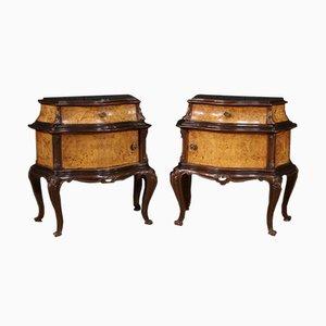 Tables de Chevet Vintage, 20ème Siècle, Set de 2