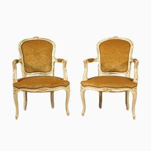 Poltrone laccate e dorate, XX secolo, set di 2