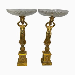 Golden Figural Tazze, 20th Century, Set of 2