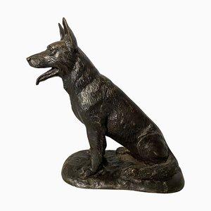 Cane piccolo in bronzo, XX secolo