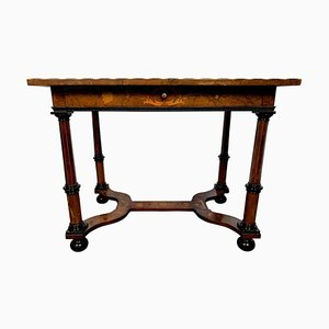 18th Century Dutch Burr Walnut and Marquetry Inlaid Table