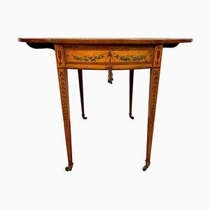 Ausklappbarer Tisch aus lackiertem Satinholz, 19. Jh