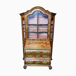 Dutch Miniature Secretaire Bookcase in Walnut, 18th Century