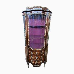 Vetrina in legno intarsiato, XIX secolo