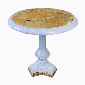 Table en Marbre de Sienne Blanc, Italie, 19ème-20ème Siècle