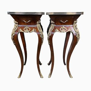 French Kingwood Side Tables, 20th Century, Set of 2