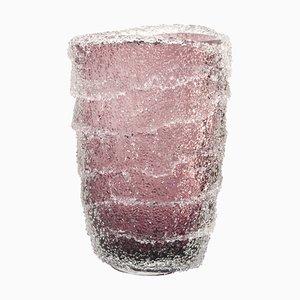 Grand Vase en Verre de Murano, Améthyste et Cristal de Granzoles