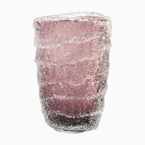 Large Vase in Murano Glass, Amethyst and Granzoles Crystalline