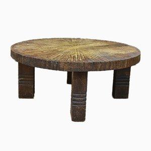 Brutalist Oak Coffee Table, 1950s