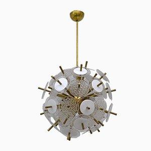 Sputnik Chandelier with Murano Glass Disks