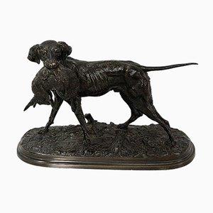 Bronzo di un cane da caccia di P. J Mêne