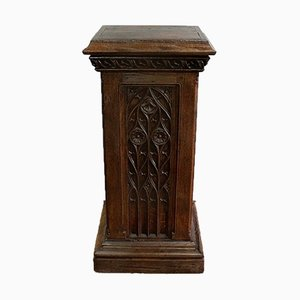 Column for Solid Oak Statue, Late 19th Century