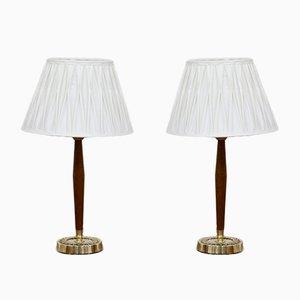 Lampes de Bureau par Hans Bergström pour ASEA, Suède, 1950s, Set de 2