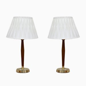 Swedish Table Lamps by Hans Bergström for ASEA, 1950s, Set of 2