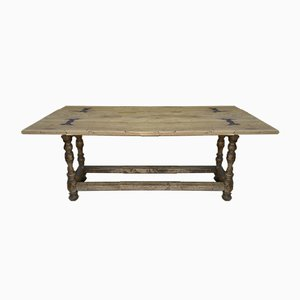 Solid Oak Table, 1900s