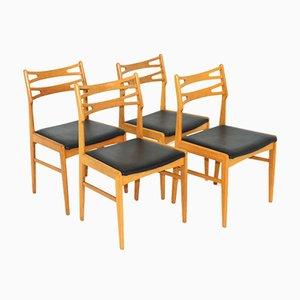 Oak Chairs, Sweden, 1960s, Set of 4