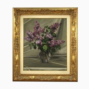 Italian Still Life Painting, Vase with Flowers
