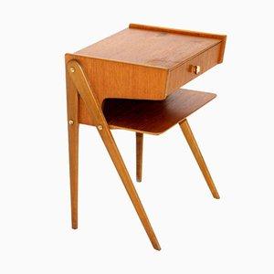 Teak Bedside Table, Sweden, 1950s