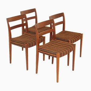 Chaises en Teck de Hugo Troeds, Suède, 1960s, Set de 4