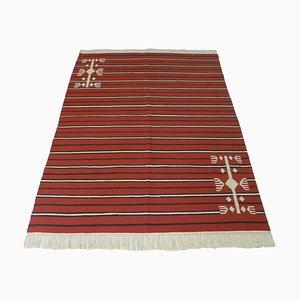 Vintage Moroccan Nomadic Berber Kilim Rug