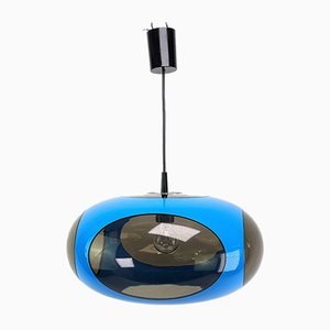 Mid-Century Blue UFO Ceiling Lamp from Massive