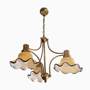 Vintage Murano Glass Chandelier, Italy, 1990s