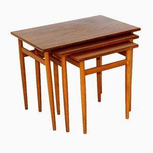 Tables de Seffle Möbelfabrik, Suède, 1960s, Set de 3