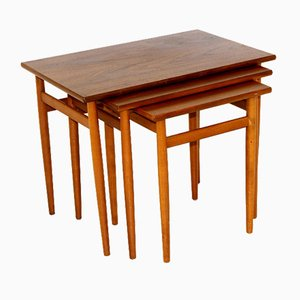 Tische von Seffle Möbelfabrik, Schweden, 1960er, 3er Set