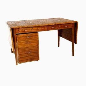 Mahagoni Schreibtisch, Schweden, 1950er