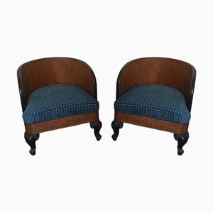 Living Room Armchairs, 1940s, Set of 2