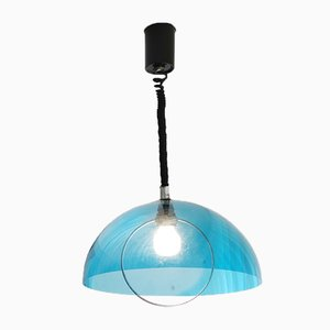 Acrylic Translucent Pull Down Ceiling Lamp, 1970s, Italy